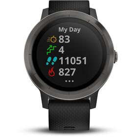 Garmin vívoactive 3 GPS Sportuhr mit schwarzem Silikonarmband Schiefer
